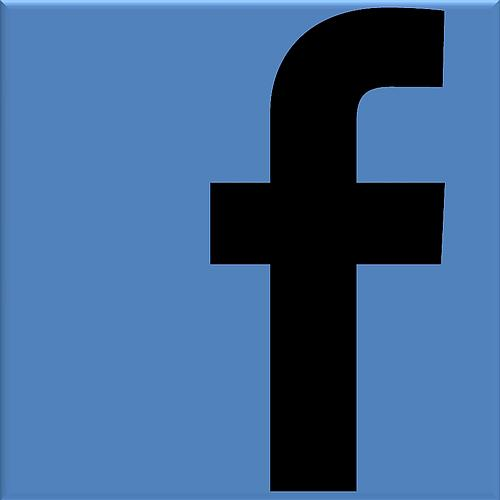 Facebook logo black small