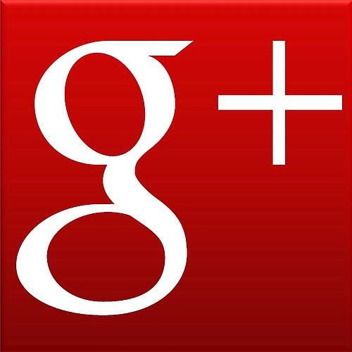 Google plus logo white small